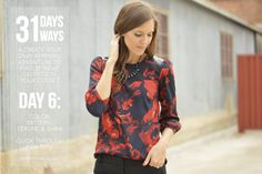 Mixing color, pattern, texture and shine for 31 outfits in 31 days with @caitlinskidmore