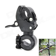 Universal Plastic Cycling Bicycle Flashlight Torch Mount Holder Clamp - Black Price: $7.32