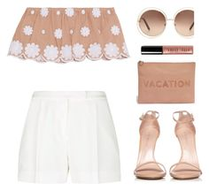 """""""Vacation"""" by melaniemeran ❤ liked on Polyvore featuring Miguelina, Elie Saab, Stuart Weitzman, Madewell, Chloé and Bobbi Brown Cosmetics"""