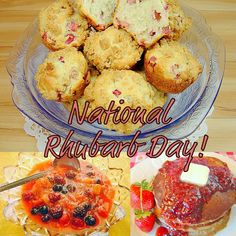 It's National Rhubarb Day!  Three great recipes to tickle your rhubarb fancy.