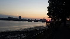 Sunrise at thames barrier.