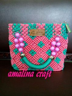Crotchet Bags, Macrame Purse, Bude, Macrame Design, Macrame Projects, Henna Art, Purses And Bags, Tutorials, Diamond