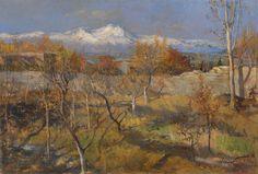 Dmitri Nalbandian: Autumn Landscape (1954)
