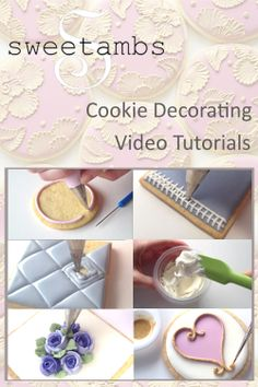Cookie Decorating Video Tutorial Bundle: Lessons 1-15 With Recipes