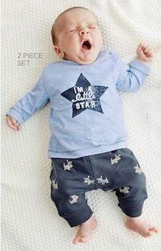 Autumn baby boy star pattern long sleeve clothing sets