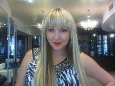 Bailey Schneider wearing Runway Hair keratin bonded extensions... We love the bangs!