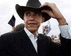 Obama on the range....