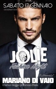 Mariano Di Vaio, fashion blogger n° 1 d'Italia, ospite al Jolie Energy http://www.nottiromagnole.it/?p=13978