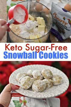 mexican christmas cookies Weihnachtspltzchen Make these Sugar Free Keto Snowball Christmas Cookies and leave them out for Santa this year! Make these Sugar Free Keto Snowball Christmas Cookies and leave them out for Santa this year! Low Carb Sweets, Low Carb Desserts, Low Carb Recipes, Diet Recipes, Vegetarian Recipes, Recipies, Keto Cookies, Almond Cookies, Sugar Free Cookies