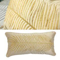 Long Golden Banana Leaf Embroidery Handmade by GlamorousJILL