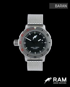 RAM Swiss Watches - Baran / Case Dimension:  47.0mm  Water Resistance:  100 ATM   Glass:  Sapphire Crystal   Movement:  ETA 2824-1 Automatic