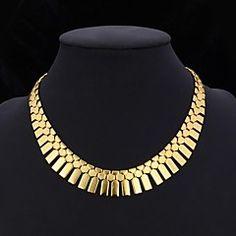 U7® Women's Bib Necklace Choker Statement Necklace 18K Real ... – USD $ 9.99