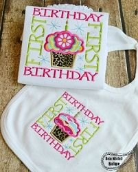 First Birthday Applique - 4 Sizes! | What's New | Machine Embroidery Designs | SWAKembroidery.com Beau Mitchell Boutique