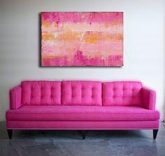 Pink Original acrylic Painting by erinashleyart on Etsy
