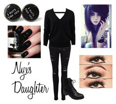 """""""The Daughter of Nyx"""" by awesome-saucem ❤ liked on Polyvore featuring moda, Frame Denim, Michael Kors, Bamboo e percyjackson"""
