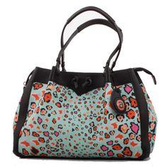 Ardmore Leopard Lights Kingfisher Fabric Handbag with Black or Orange Leather Trim. Height x Width x Depth. Fabric Handbags, Leather Handbags, Best Handbags, Orange Leather, Kingfisher, Gym Bag, Hand Bags, Hands, Ceramics