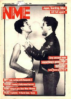 Wham! in a rare cover for NME November 1982
