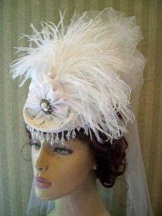 Mini Riding Hat Wedding Hat Mini Top Hat Civil War Hat Kentucky Derby Hat  Feathers Ribbon Victorian Hat--Hat 86086331d2fa