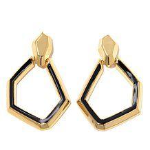 Hutton Wilkinson Goldtone Link Earrings