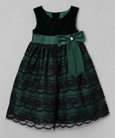 This Dark Green & Black Dress - Toddler & Girls by Rosenau Beck is perfect! #zulilyfinds