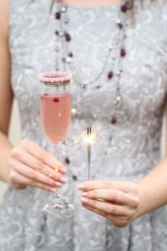 Happy New Year / Champagne and Sparkles