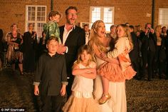 Big family: Tori and husband Dean McDermott, pictured back in May are already parents to f...