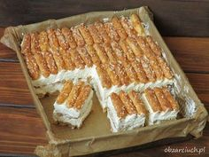 Baking Recipes, Cake Recipes, Dessert Recipes, Icebox Cake, Polish Recipes, Food Cakes, No Bake Cake, Cake Cookies, Sweet Recipes