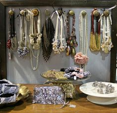 Display idea for jewelry craft booth.