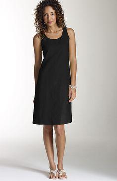 Crisp linen tank dress at J.Jill - perfect for summertime