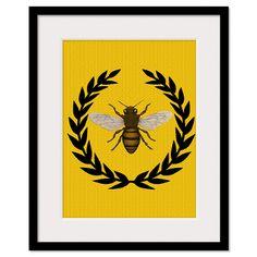 stylized bee print