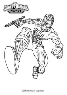 Power Ranger Attack coloring page. More Power Rangers coloring sheets on hellokids.com