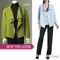 Sew the Look: Vogue Patterns V8430 draped jacket sewing pattern by Marcy Tilton.