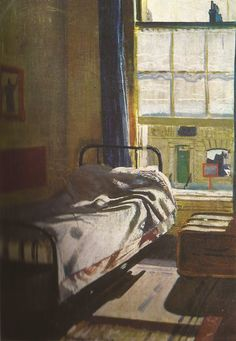 WILLIAM DOBELL Interior with Bed (1932) Interior with Bed Oil on canvas, 20.3 x 21.3 cm Sotheby's Australia, Sydney.