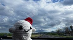 Sunshine and rain! But California is so pretty when is green again! #adiposing #doctorwho #adipose #drwho #roadtrip #amigurumiadventures #amigurumi #somewhereinamerica #somewhereinCalifornia by adiposing_with_adipose