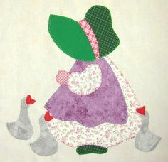 International Sunbonnet Sue by Debra Kimball Barn Quilt Patterns, Applique Patterns, Applique Quilts, Applique Designs, Embroidery Applique, Sunbonnet Sue, Quilting Projects, Crochet Projects, Sewing Projects