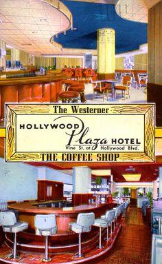 Vintage Hollywood Plaza Hotel interior,  Hollywood, Ca.   Flickr  Los Angeles