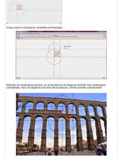 Los rectángulos áureo y cordobés en el acueducto de Segovia (trabajos de los alumnos/as)