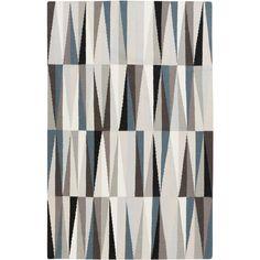 Frontier Black, Grey, Moss, & Teal Rug design by Surya | designer-rug.com