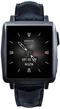 Omate X Smart Watch for iPhone and Android – Anthracite. #Watches #WatchReviews #Omate #SmartWatches