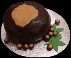Ohio State Buckeye cake.