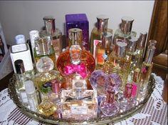A way to organize perfume.