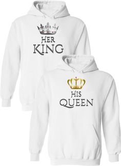 King & His Queen - Couple Hoodies King and Queen Hoodie / Couples Apparel / Couples Hoodies / Wedding / Couples Apparel has the best matching apparel for you and your significant other! Cute Couple Hoodies, Matching Hoodies For Couples, Matching Shirts, Couple Shirts, Boyfriend And Girlfriend Hoodies, I Love My Girlfriend, Boyfriend Goals, Future Boyfriend, King And Queen Sweatshirts
