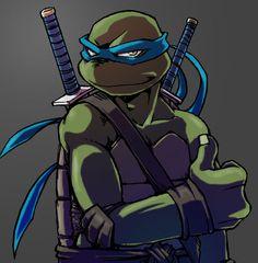 Blue Ninja Turtle, Ninja Turtles Art, Turtle Love, Teenage Mutant Ninja Turtles, Tmnt 2012, Turtles Forever, Tmnt Leo, Leonardo Tmnt, Nickelodeon