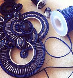 white show a Milano Leather Jewelry, Boho Jewelry, Jewelery, Soutache Necklace, Tassel Earrings, Ribbon Embroidery, Shibori, Bead Weaving, Daily Fashion