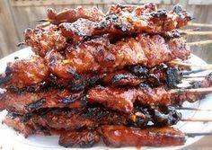 philipino barbecue chicken skewers recipe Filipino BBQ pork skewers - works w chicken Filipino Pork Barbecue Recipe, Barbecue Recipes, Filipino Recipes, Grilling Recipes, Pork Recipes, Asian Recipes, Cooking Recipes, Filipino Food, Vegetarian Grilling
