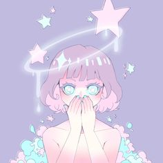 Find images and videos about art, anime and kawaii on We Heart It - the app to get lost in what you love. Arte Do Kawaii, Manga Kawaii, Kawaii Art, Aesthetic Anime, Aesthetic Art, Pretty Art, Cute Art, Pretty Pastel, Anime Kunst