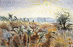 Goldenrod In December, Drawing by Charles Ephraim Burchfield (1893-1967, United States)