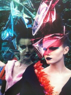 dior great hair & plastic foil styling retro future