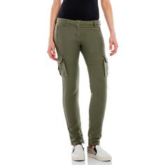 Etienne Marcel Cargo Skinny Pants ($40) ❤ liked on Polyvore featuring pants, beige, skinny leg pants, faux-leather pants, skinny cotton pants, cotton cargo pants and zipper cargo pants
