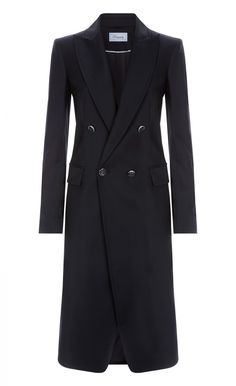 Opus Coat - This deftly tailored, double-breasted Opus Coat features notched lapels and front flap pockets. The simple style and classic black colour ensure endless styling options for both day and night, making this an essential addition to your new season wardrobe.